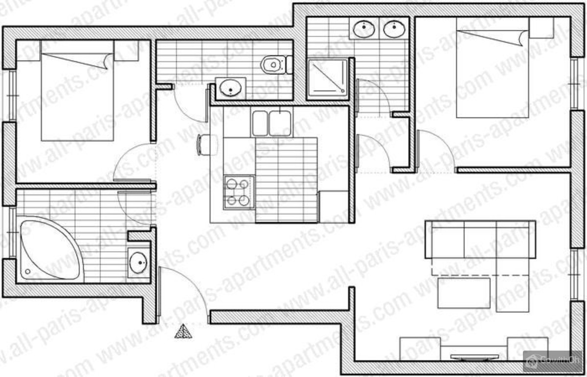 Spacious apartment with a sauna and a jacuzzi for Sauna floor plans