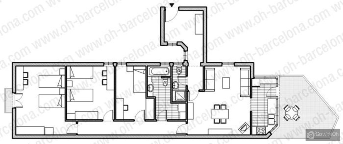 Holiday apartments barcelona 3 bedroom flat with wifi for Apartment wifi plans