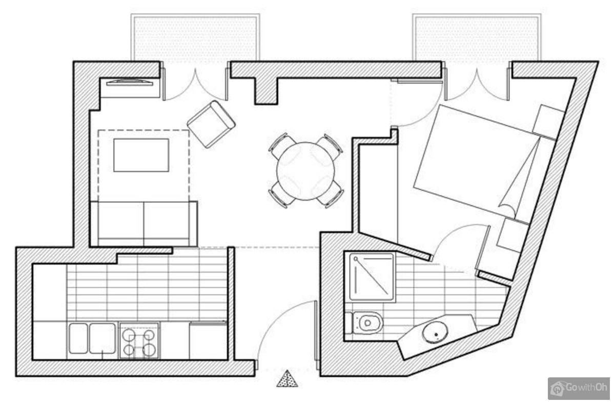sch n eingerichtete ferienwohnung f r vier im eixample. Black Bedroom Furniture Sets. Home Design Ideas