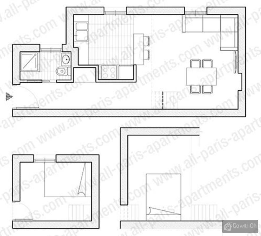appartement duplex pour 4 personnes au c ur du marais. Black Bedroom Furniture Sets. Home Design Ideas