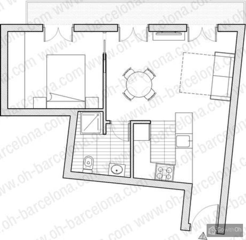 Case vacanze barcellona elegante appartamento per 3 for Case vacanze a barceloneta