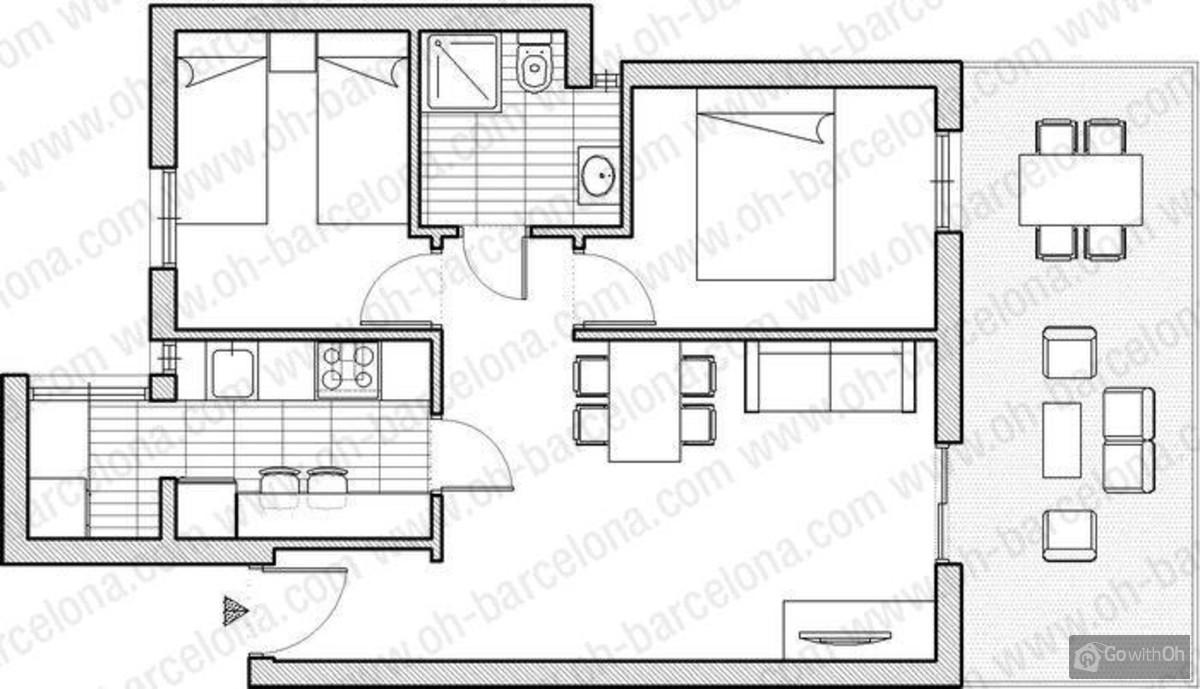 Case vacanze barcellona attico con ampia terrazza for Case vacanze a barceloneta