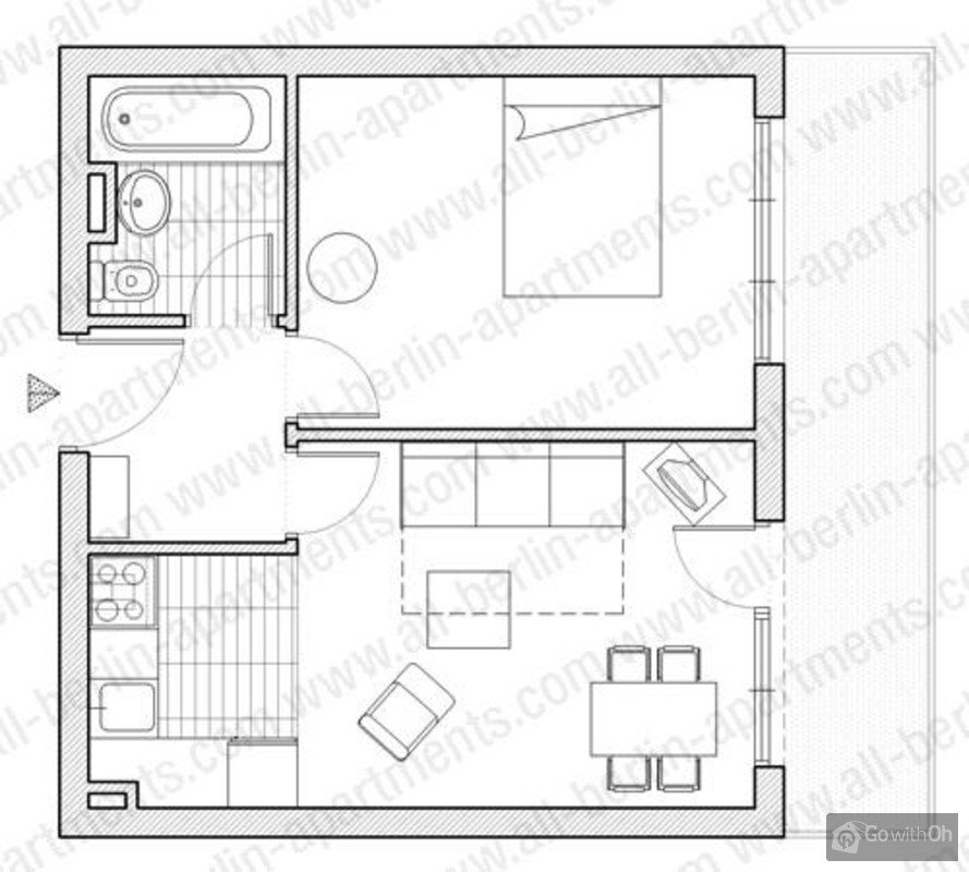 Apartment for 2 people with great location in berlin with wifi for Apartment wifi plans