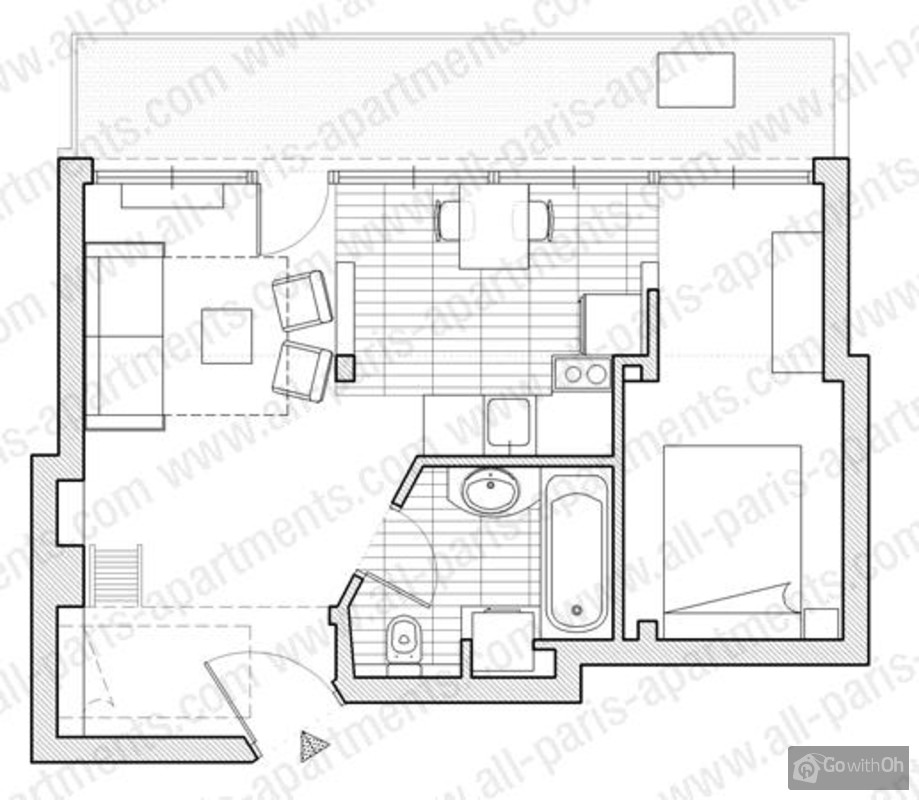 great see floor plan with plan cuisine 12m2. Black Bedroom Furniture Sets. Home Design Ideas